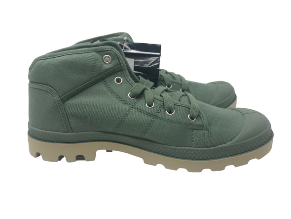 PALLADIUM Pampa Sport TW Men's Lace Up Ankle Hiking Boots Hedge Green/Mojave