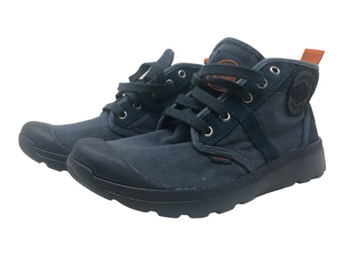 Palladium Pallaville Hi CMS Men's Low Top Cross Trainers Athletic Sneakers in Midnight Navy/Burnt Orange