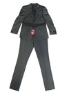 L&S Hollywood Celebrity Grey/Black Hollywood Slim Fit Men's Suit 40R/34R Pant AND 40R/34R Jacket