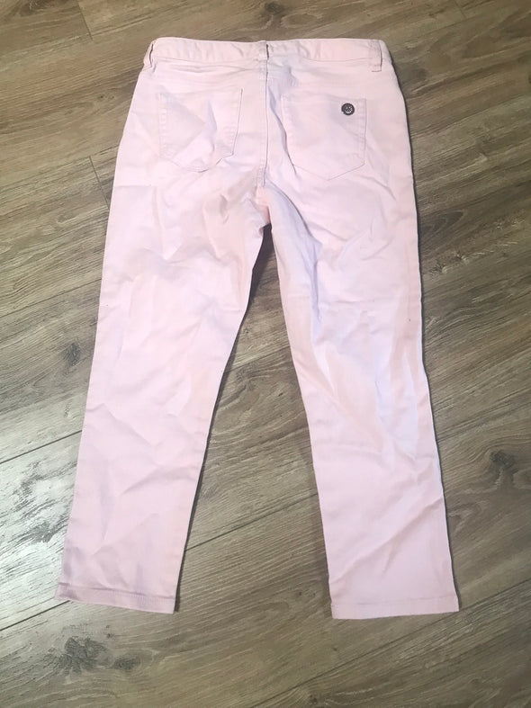 Michael Kors Izzy Pink Cropped Skinny Jeans Women's Size 4