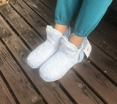 Muk Luks Women's Slipper Boots in Beautiful Alice Blue Style #16024
