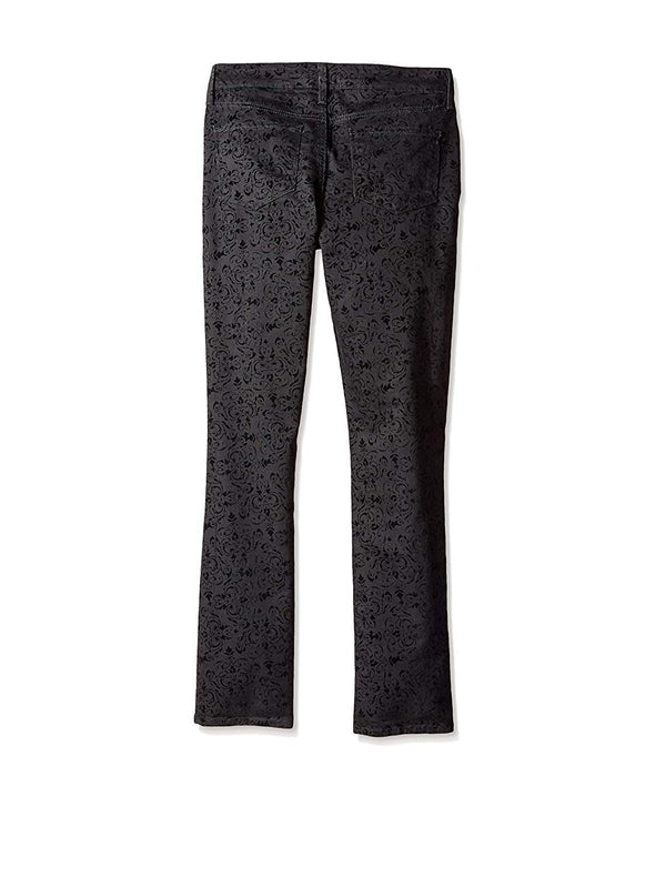 NYDJ Not Your Daughters Jeans BLACK MEDALLION Velvet Jacquard Skinny Pants