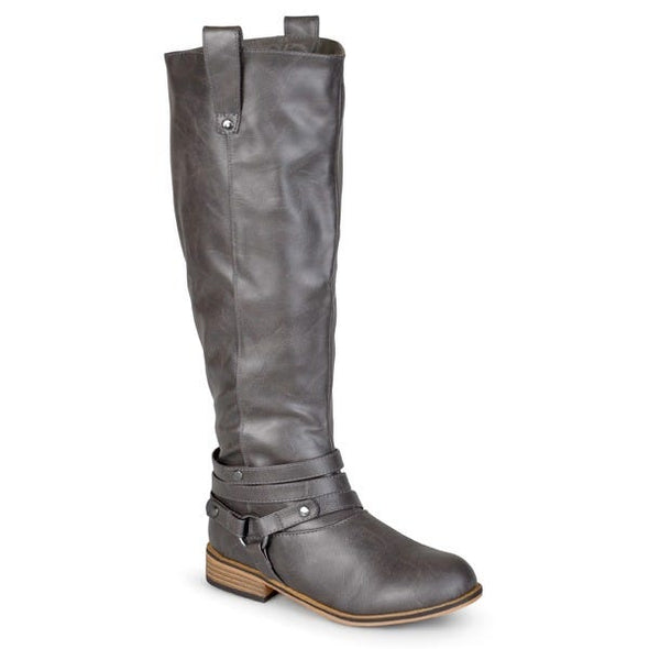 JC Journee Collection Walla Knee High Black Faux Leather Riding Boots Women's Size 10WC