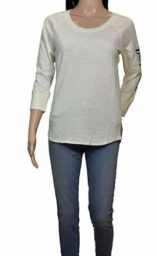 JAMES PERSE Vanilla Cream White CALIFORNIA 3/4 Sleeve Shirt Size