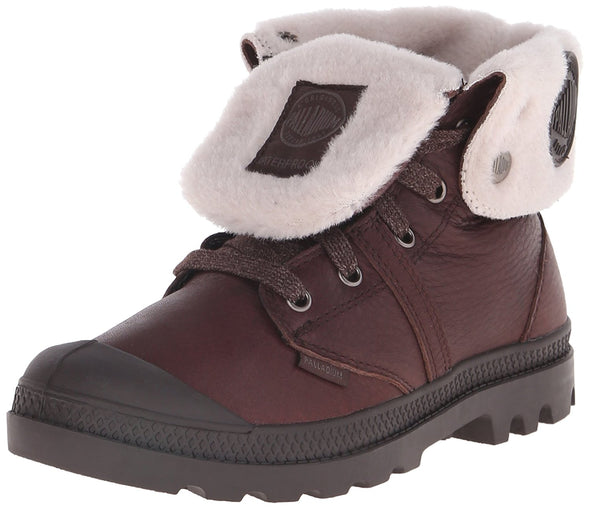 PALLADIUM Pallabrouse Baggy WPS Women's Chocolate Wool Lined Leather Combat Hiking Rain Boots