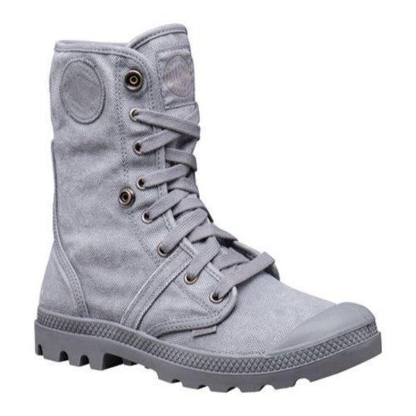 PALLADIUM Pallabrouse Baggy CL Women's Titanium Fold Over Lace Up Canvas Combat Hiking Boots