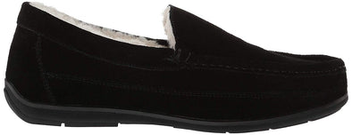 Lamo LEWIS CM1742 Black Men's Australian Sheepskin Lined Suede Moccasin