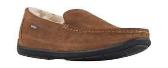Lamo Luxury Collection LEWIS CM1742 Chestnut Men's Australian Sheepskin Lined Suede Moccasin