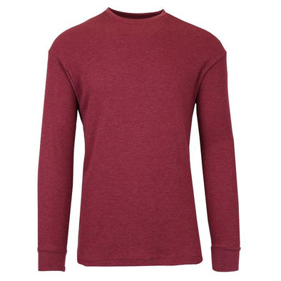 GALAXY by HARVIC Men's Thermal Long Sleeved Shirt in Burgundy