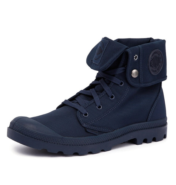 PALLADIUM Mono Chrome Baggy II Unisex Lace Up Fold Down Combat Hiking Boots in Navy