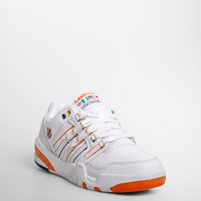 K-SWISS SI-18 International Carot Men's White/Orange/Navy Athletic Sneakers