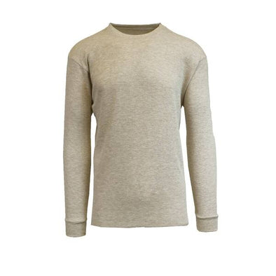 GALAXY by HARVIC Men's Thermal Long Sleeved Shirt in Oatmeal