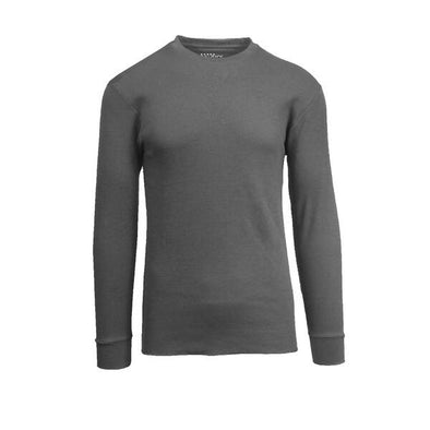 GALAXY by HARVIC Men's Thermal Long Sleeved Shirt in Heather Charcoal