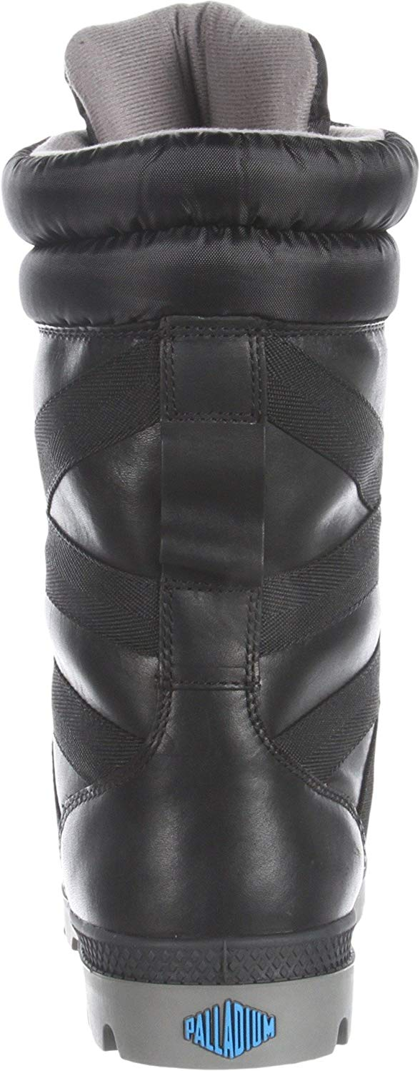 Palladium Women's Pampa Thermal Mid-Calf Boots Black/Metal Waterproof and Thermal Lined