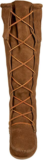 Minnetonka Moccasin Suede Knee High Dusty Brown #1428 Women's Boots