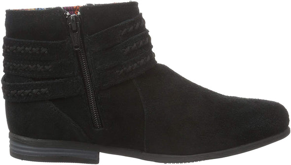 Minnetonka Moccasin Side Zip Black Suede Leather Ankle Dixon Boot #569