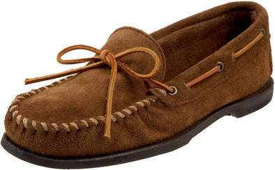 Minnetonka Men's Dusty Brown Leather Suede Camp Classic Moccasin #747