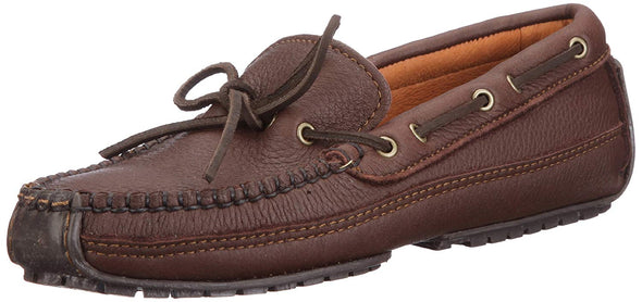 Minnetonka Leather Men's Weekend Moosehide Moccasins Chocolate #752