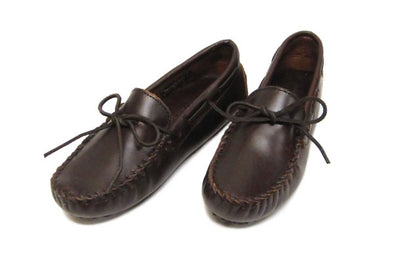 Minnetonka Leather Men's Classic Driving Dark Brown Moccason #798