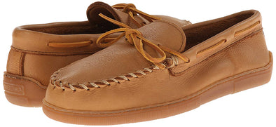 Minnetonka Men's Moosehide Leather Classic Moccasin Natural #890