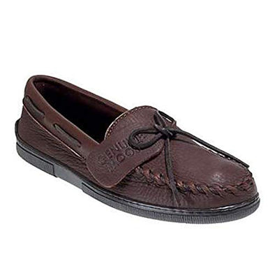 Minnetonka Men's Chocolate Classic Leather Moccasin Style 892