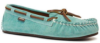 Lamo Women's Sabrina Moc ll Leather Lace MINT Rich Suede Slip-On Moccasins
