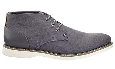 Franco Vanucci Bernardo Grey Textured Casual Chukka Boot Men's Size 9