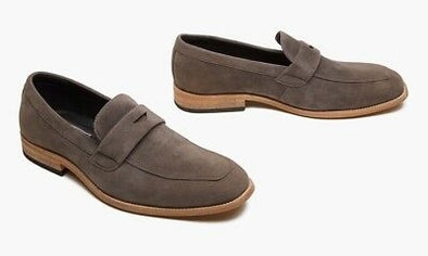 Oak & Rush Grey Suede Look Jeffrey Men's Loafer Size 10