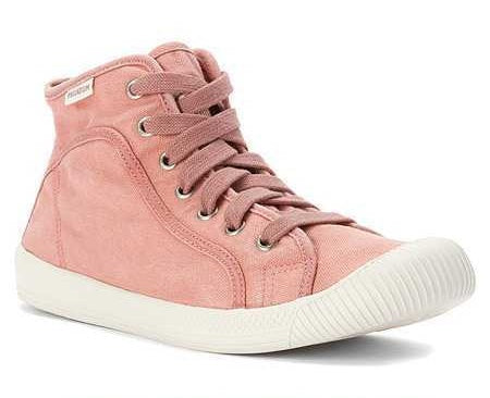 Palladium Flex Lace Mid Women's Old Rose/Marshmallow High Top Canvas Sneakers