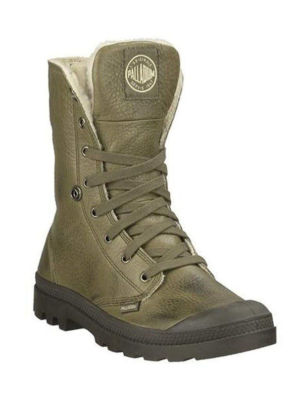Palladium Baggy Leather S Men's Olive Drab/Army Green Boots