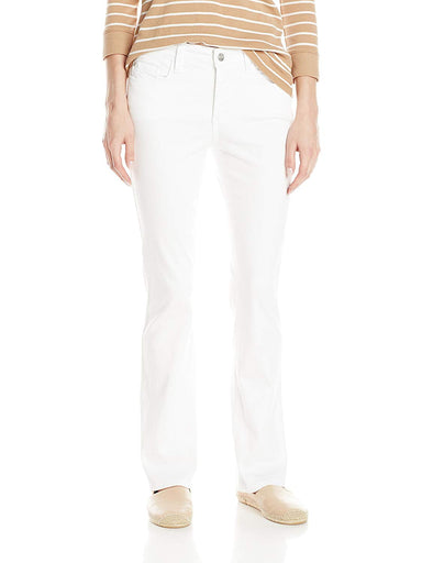 NYDJ Women's Petite Billie Mini Bootcut Optic White Not Your Daughters Jeans
