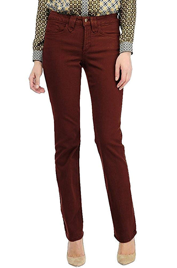 NYDJ Hayden Straight Not Your Daughters Jeans Oxblood Women's Pants
