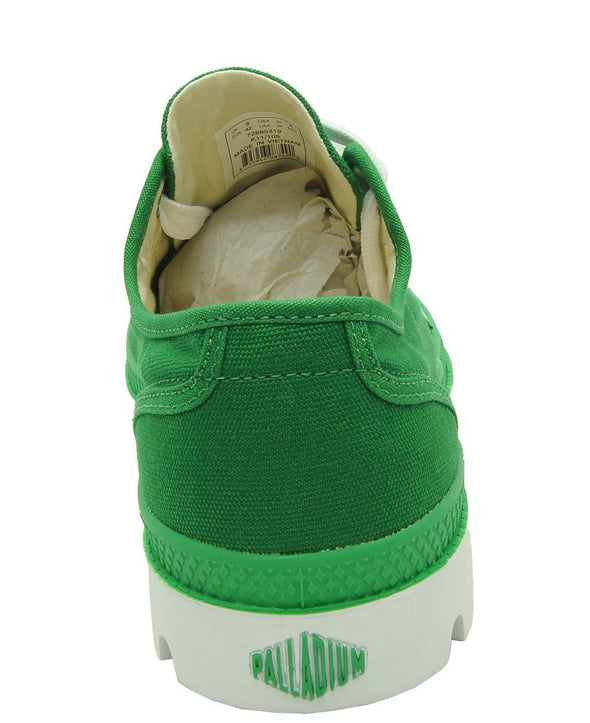 PALLADIUM Blanc Ox Unisex Green/White Low Top Canvas Athletic Sneakers