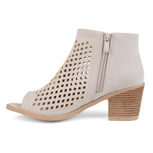JC Journee Collection Pixie Grey Laser Cut Ankle Booties Women's Size 6