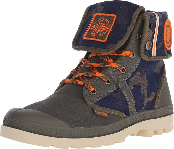 PALLADIUM Pallabrouse Baggy EXTX Olive Drab/Orange/Mjved Unisex Fold Down Lace Up Combat Hiking Boots