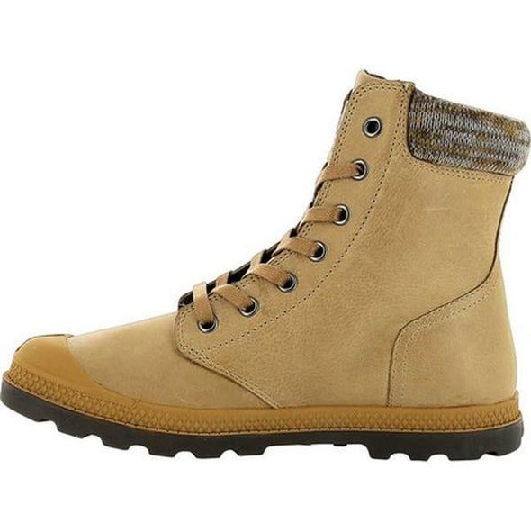 PALLADIUM Pampa Hi Knit LP Women's Lace Up Ankle Chukka Boots in Amber Gold/Carafe