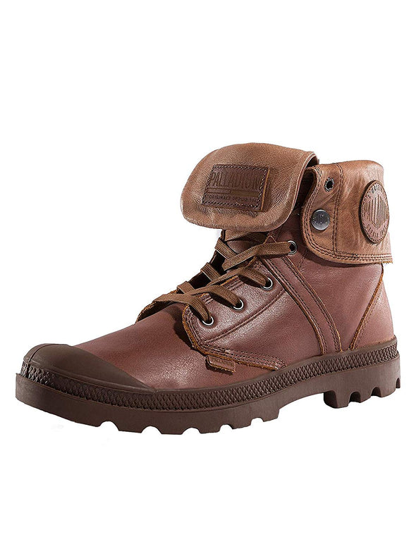 Palladium Pallabrouse Baggy L2 Unisex Leather Ankle Foldover Boots Sunrise