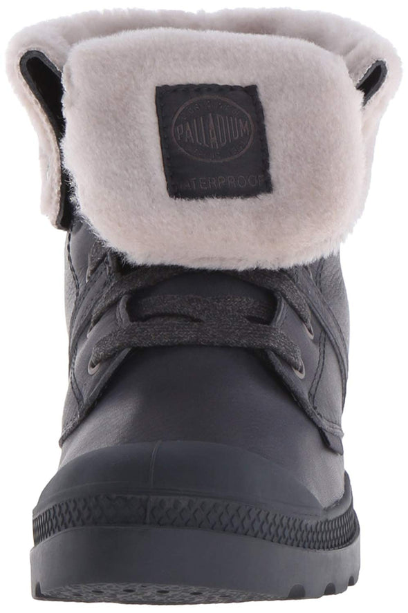 Palladium Women's Pallabrouse Baggy WPS Rain Boot Anthracite Lamb's Wool Lined