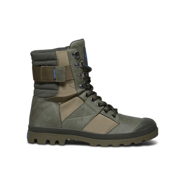 PALLADIUM Pampa Nue Tactic WP Women's Army Green/Dark Olive Size 8.5