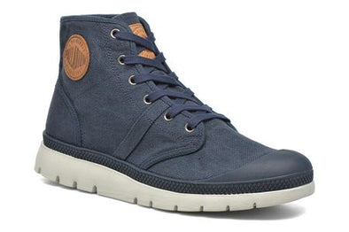 Palladium Pallabrique High LC Men's Navy/Cognac High Top Sneakers Boots