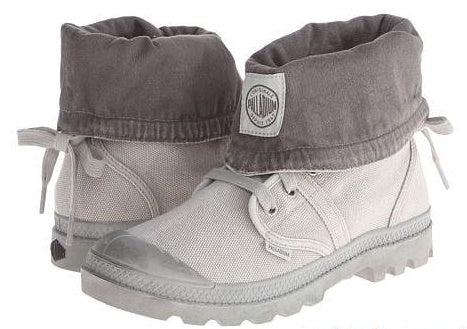 PALLADIUM Pallabrouse Gator Women's Canvas Hiking Boots in Vapor/Metal