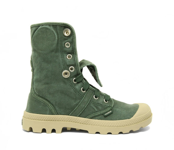Palladium Pallabrouse Baggy Women's Chukka Canvas Boots in Pineneedle/Putty