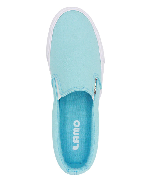 Lamo Piper Turquoise Vulcanized Womens Canvas Slip On Casual Sneaker