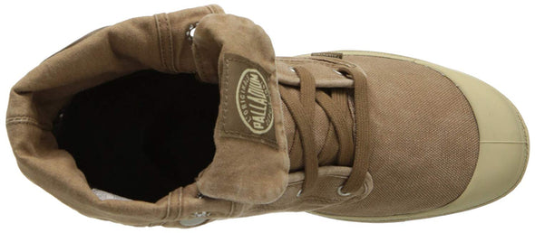 PALLADIUM Baggy Espresso/Putty Men's Canvas Fold Over Combat Hiking Boots