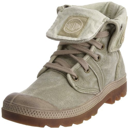 PALLADIUM Pallabrouse Baggy Men's Foldover DK Khaki/Putty Lace Up Boots