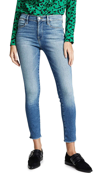 FRAME Women's Le High Skinny Double Needle Raw Jeans McGrath 28 (6)