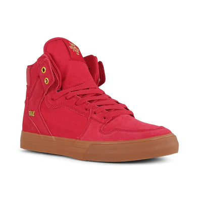 Supra Vaider Men's Hi-Top Skate Boarding Shoe Rose/Gold-LT Gum