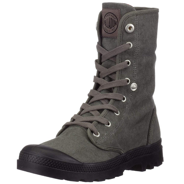 Palladium Baggy Women's Stonewashed Metal Plaid Cuff Lace-Up Canvas Boot