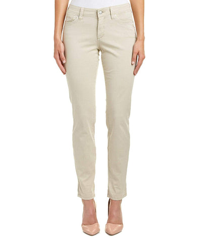 NYDJ Not Your Daughters Jeans Samantha Slim Sand Dollar Women's Petite Pants
