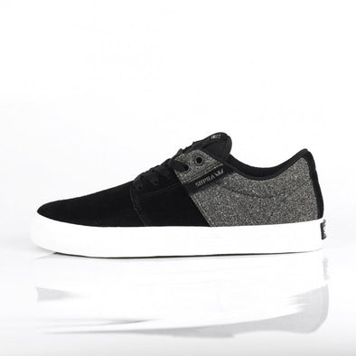 Supra Stacks Vulc II Men's Black-White/Black Athletic Sneakers Skateboarding Shoes